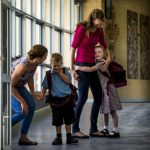 Mums return to school with kindy kids in tow